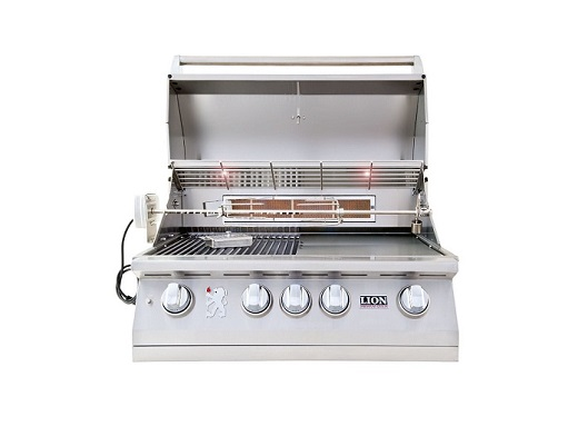 Lion Premium 32″ 4 Burner W/ IR Gas Grill – L-75000 (Natural Gas) Item 75623
