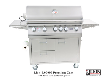 Lion 40″ 5 Burner Grill | Cart Combo