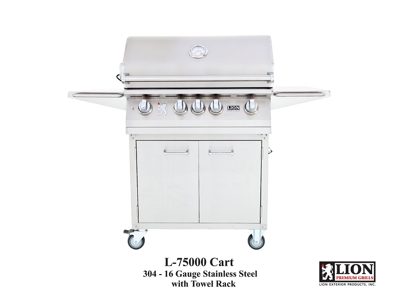 Lion Grill 32″ Grill | Cart Combo