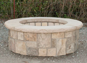 Stone Age Manufacturing 42″ Short Round Outdoor Fire Pit Kit