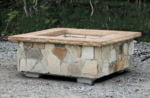 Stone Age Manufacturing 42″ Square Outdoor Fire Pit Kit