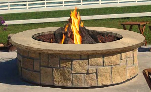 Stone Age Manufacturing 48″ Large Round Outdoor Fire Pit Kit